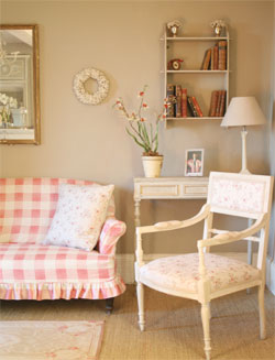 Bespoke, made to measure soft furnishings from the Kate Forman French collection